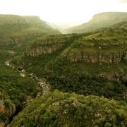 Swoop over deep gorges and lush valleys and experience amazing panoramic views
